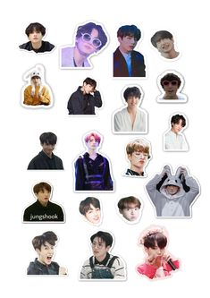 Pop Stickers, Face Stickers, Tumblr Stickers, Kids Stickers, Bts Jungkook, Bts Tickets, Korean Stickers, Kpop Diy, Bts Face