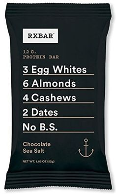 RXBAR Whole Food Protein Bar Chocolate Sea Salt 183 Ounce Pack of 12 *** See this great product. (This is an affiliate link) Clean Recipes, Organic Recipes, Gourmet Recipes, Whole Food Recipes, Dinner Recipes, Sea Salt Chocolate, Chocolate Coffee, High Protein Snacks, Protein Bars