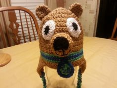 Crocheted scooby doo