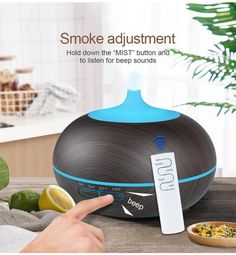 USB Air Humidifier Aroma Diffuser remote control 7 Colors Changing LED Lights cool mist maker Air Purifier for Home Germany Poland, Air Humidifier, Aroma Diffuser, Natural Essential Oils, Air Purifier, Mists, Remote, Usb, The Unit