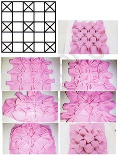 Smocking Tutorial, Smocking Patterns, Sewing Patterns, Fabric Manipulation Fashion, Fabric Manipulation Techniques, Fabric Manipulation Tutorial, Diy Crafts Hacks, Craft Stick Crafts, Ribbon Embroidery Tutorial