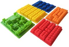 5 Lego Themed Silicone Candy Molds Plus Bonus Recipe Guide eBook - Create Custom, Personalized Chocolates, Candies, Jello, Ice, Soap, Crayons and Candles - Make Building Bricks and Minifigures in Many Shapes and Sizes - High Quality, Eco-Friendly and Certified - Must-Have For Chocolate and Hard Candy Lovers - Best Lifetime Guarantee * MORE INFO @ http://www.getit4me.org/baking/1098/?587