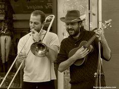 Muchatrela Band busking in Peristeri, Athens (Greece)