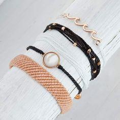 Beaded Bracelets, Leather, Jewelry, Fashion, Jewellery Making, Moda, Pearl Bracelets, Jewelery, Jewlery
