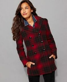 BURBERRY London Vyner Wool Pea Coat Dark Charcoal $1150 http ...