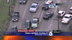 California High Speed Police Chase Speeding Hit & Run Suspect In Truck 1...