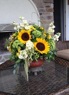 Sunflowers with sophistication