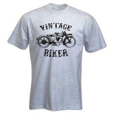 cdccc45ad9a464 Bang Tidy Clothing Men s Vintage Biker T Shirt Grey L