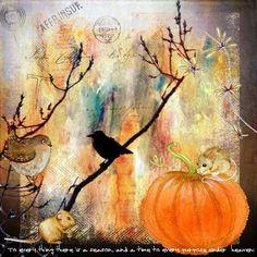 Bastelmania: Birds in autumn