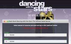 Dancing with the Stars The Official Game Hack Tool Features  Add 1.000.000 Energy   Add 1.000.000 Bucks Add Proxies Enabled Automatically Undetectable, Safe and Effective 100% Guaranteed Works for all Android mobile phones or tablets, iPhone, iPad, and other iOS 7 and up device  No ROOT or JAILBREAK needed Updated daily to Daily updates to certify the working hack