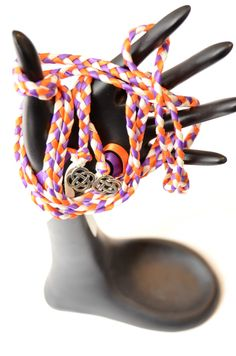 Purple Orange Celtic Knot Wedding Hand Fasting/ Binding Cord ~ Handfasting ~ Tying the Knot ~ Celtic Promise by DivinityBraid on Etsy