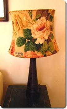 Remember this lampshade? I bought it ages ago for 50p, and although it had a small tear in the back I had to buy it for that fabric. Wel...