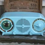 Vintage aqua Radio for display - $35.