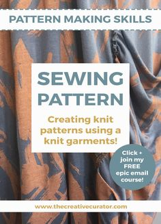 Creating Knit Patterns Using a Knitted Garment - learn pattern making skills - recreate your own clothes - The Creative Curator