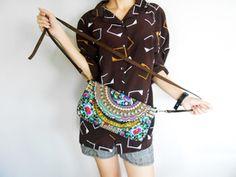 Cute colourful shoulder bag #Discovered #Bohemian #Vibes #Colours #Colors #Shoulder #Bag