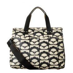 Orla Kiely Tiny Spring Bloom Classic Zip Shoulder Bag - Charcoal ... bc6c23e0fc442