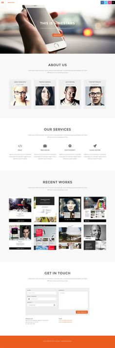 Free - Ninestars Bootstrap 3 one page template