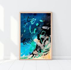 Light up your decor with this large #abstract #expressionist #painting on paper. This modern art painting was made on white 200 gms - 130 lbs soft-white paper. Size is 77cm x 56cm (30,3 x 22). Signed on the front . Unframed. Packaged with care and shipped with tracking number