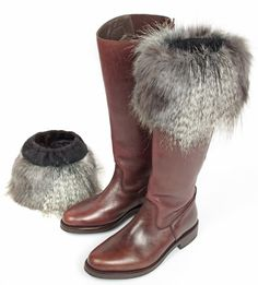 Faux Fur Boot Topper in Mountain Wolf, these can be bought or make yourself. Check the inside of the fabric to ensure that its faux fur; you should see a knitted or mesh backing if you find skin/suede on the back its real fur which is illegal now in many countries across Europe.