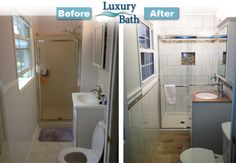 Looking For Small Bathroom Remodeling Ideas? Here Is A Before And After  Shot Of A