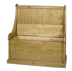 Large Druids Pew Solid Pine Storage Bench