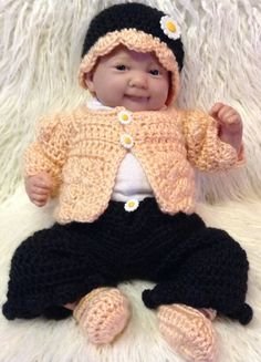 Clothes for reborn preemie doll, reborn doll clothes by PaulasCrochetArmoire on Etsy