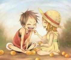 Luffy y Nami