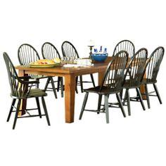 Laramie 9 Piece Expandable Dining Table Set at SmartFurniture.com