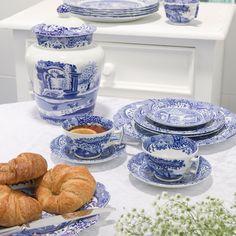 Blue Italian Tekopp med Skål 200 ml - Spode - Spode - RoyalDesign.no