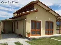 Casas pequenas: 5 projetos de 45 até 130m² - Casa