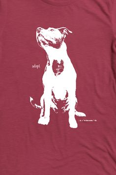 """ONE T-SHIRT CAN HELP THE DOGS WE LOVE! : Beautiful Kyra wears her heart on her chest and now you can too. """"Adopt Love"""" is the name of The Unexpected Pit Bull's new campaign with Bonfire. When you purchase our Adopt Love t-shirt, 100% of the profits help dogs waiting to be adopted."""