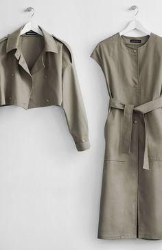 Somemoment Two-piece Khaki Trench Coat - Women Trench Coats - Ideas of Women Trench Coats - Two-piece Khaki Trench Coat Somemoment Womens Clothing Iranian Women Fashion, Muslim Fashion, Hijab Fashion, Fashion Outfits, Womens Fashion, Fashion Trends, Fashion Coat, Petite Fashion, Lolita Fashion