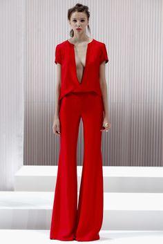 44616fbd90 Wide leg pants · Wes Gordon Spring 2013 Red Fashion