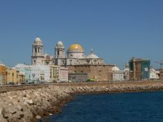 Cadiz by the sea Places Ive Been, Taj Mahal, Cathedral, Cadiz Spain, Building, Amazing, Mysterious, Travel, Vacations