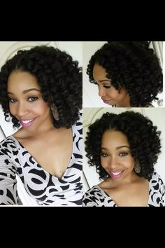 Crochet braids. Best protective hair style. Ready to give my hair a break from chemicals. Short style of course!