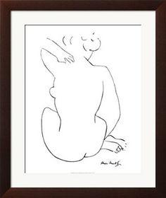 Black Sketch Print by Henri Matisse at Art.co.uk