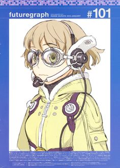 brown_hair earphones fam_fan_fan futuregraph goggles headset highres last_exile murata_renji official_art short_hair solo steampunk