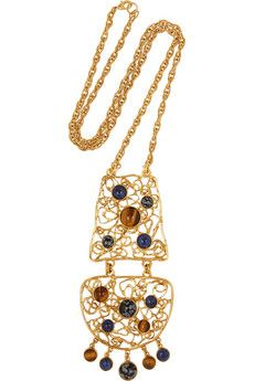 Ben-Amun Gold-plated multi-stone necklace | NET-A-PORTER