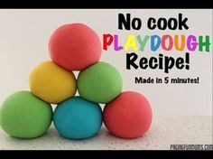No Cook Playdough Recipe...made in 5 minutes
