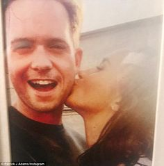 Now you see it... In August, Patrick J. Adams shared an old photo of himself with his Suits co-star Meghan Markle, in honor of her birthday ¿ but promptly deleted it the next day