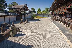 Rock garden at Tofuku-ji Temple, Kyoto, Japan