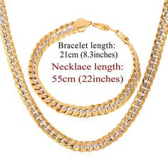 New Design Two Tone Gold Plated Necklace Set