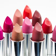 Maybelline's matte collection ranges from deep red lipsticks to pink lipsticks to orange lipsticks.
