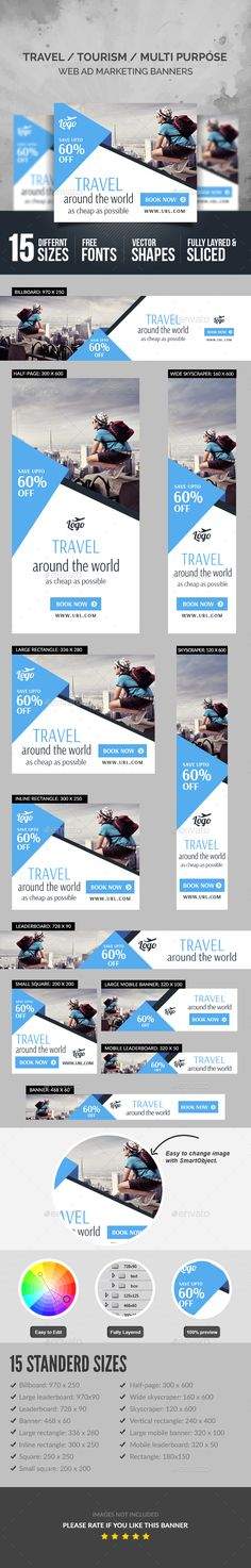 Travel Banners — Photoshop PSD #sale promotion #advertisement • Available here → https://graphicriver.net/item/travel-banners/18047701?ref=pxcr