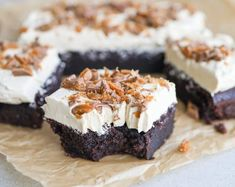 Chokoladekage med kaffecreme og Daim Cheesecake, Desserts, Food, Tailgate Desserts, Deserts, Cheesecakes, Essen, Postres, Meals