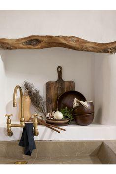Hluboký dřevěný talíř - Tmavá přírodní - HOME   H&M CZ 1