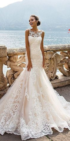 Top 24 Wedding Dresses For Celebration ❤ See more: http://www.weddingforward.com/wedding-ideas-part-2/ #weddings