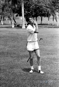 Dean Martin - blowing you a kiss. Look at those shorts baby! LOL!