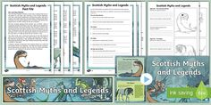 This fantastic pack contains a powerpoint giving information about eight Scottish myths and legends: the Loch Ness Monster, the Kelpies, Selkies, the Blue Men of Minch, Bean-Nighe, Wulver, Ghillie Dhu and Red Caps. There is a display banner, information cards, Fact File worksheets to be completed and differentiated comprehension questions.
