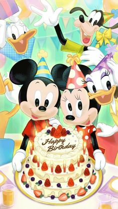 Double tap this photo to join (Disney Fans Unite) Disney Happy Birthday Images, Disney Birthday Wishes, Happy Birthday Mickey Mouse, Happy Birthday Greetings Friends, Happy Birthday Wishes Photos, Birthday Wishes Flowers, Happy Birthday Kids, Happy Birthday Messages, Belle Photo